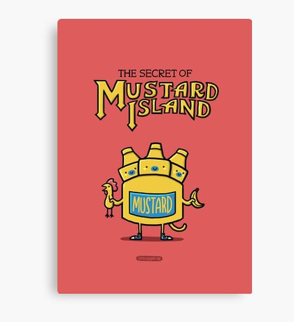 Look behind you, a three-headed mustard! Canvas Print
