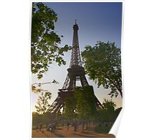 Eiffel Tower in the Evening Sun Poster