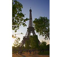 Eiffel Tower in the Evening Sun Photographic Print