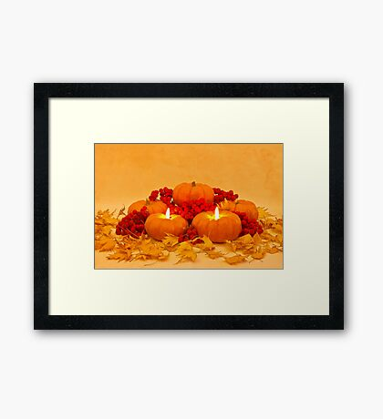 """Then We Had Pumpkin Pie"" Framed Print"