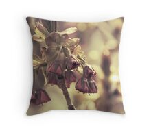 Victorian Blossoms Throw Pillow