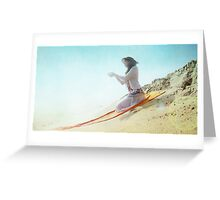 Divine offer in the beach Greeting Card