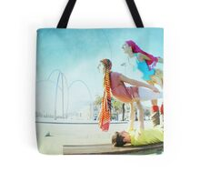 Acroyoga with two flyers Tote Bag