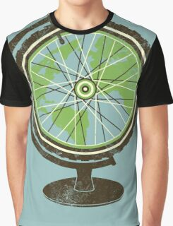 Global Cyclist (green) Graphic T-Shirt
