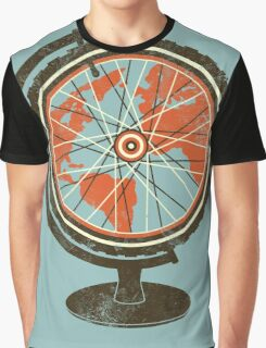 Global Cyclist (orange) Graphic T-Shirt