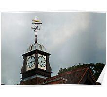Clock Tower, Wolferton Station, Sandringham, Norfolk. Poster