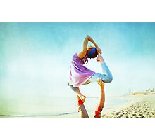 Acroyoga Flying Capotasana in the beach  Photographic Print