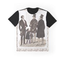 Elegant Biedermeier Gentlemen Vintage Fashion Graphic T-Shirt