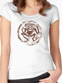 Chinese Zodiac Monkey Abstract Women's Fitted Scoop T-Shirt