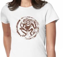 Chinese Zodiac Monkey Abstract Womens Fitted T-Shirt