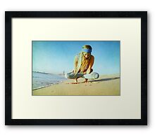 Elevated lotus at the beach Framed Print