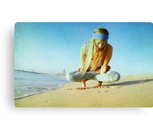 Elevated lotus at the beach Canvas Print