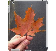 Big orange maple leaf iPad Case/Skin