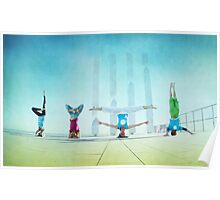 Headstand variations at Barcelona Poster
