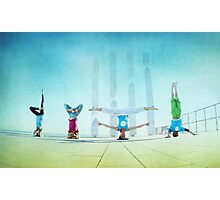 Headstand variations at Barcelona Photographic Print