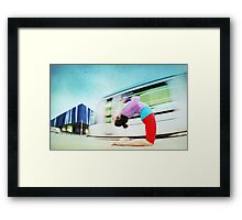 Ustrasana at the Forum, Barcelona Framed Print