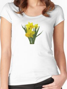Three Daffodils Standing Guard Women's Fitted Scoop T-Shirt
