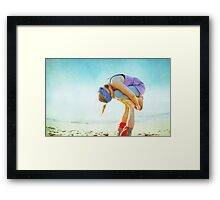 Elevated Child Pose  Framed Print