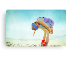 Elevated Child Pose  Canvas Print