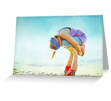 Elevated Child Pose  Greeting Card