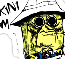 Fear and Loathing in Bikini Bottom Sticker