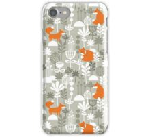 Fox in winter forest iPhone Case/Skin