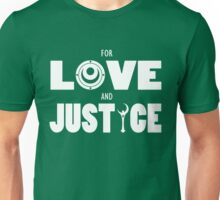 Sailor Moon - FOR LOVE AND JUSTICE (Light on Dark) Unisex T-Shirt