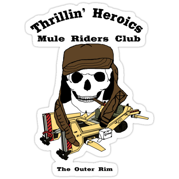 Thrillin' Heroics Mule Riders Club logo by reddesilets