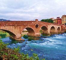 Verona, Ponte Pietra. by presbi