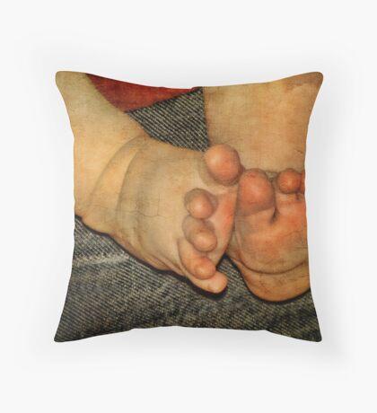 Ten Tiny Toes Throw Pillow