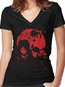 Three Samurai warriors Women's Fitted V-Neck T-Shirt