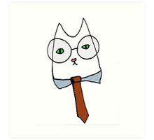 Cubicle Cat Art Print