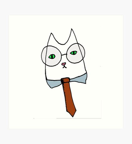 Cubicle Cat Art Print