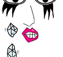 Lady Gaga Crying Swarovski Tears by Danielle  La Valle