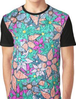 Vintage Trendy Floral Pattern Graphic T-Shirt