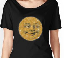 Vintage Glitter Look Moon Women's Relaxed Fit T-Shirt