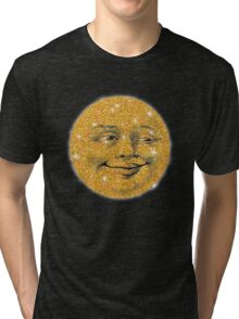 Vintage Glitter Look Moon Tri-blend T-Shirt