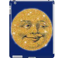 Vintage Glitter Look Moon iPad Case/Skin