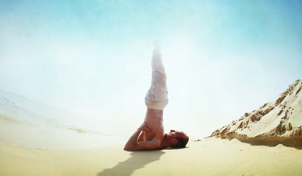 Sarvangasana with the sun by Wari Om  Yoga Photography