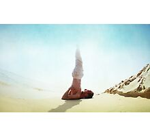 Sarvangasana with the sun Photographic Print