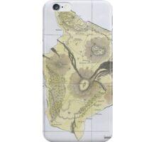Vintage Map of Hawaii (1883) 2 iPhone Case/Skin