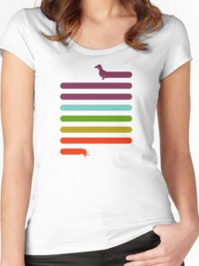 (Very) Long Dachshund Women's Fitted Scoop T-Shirt