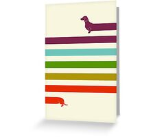 (Very) Long Dachshund Greeting Card