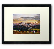 Elk Hunting Framed Print