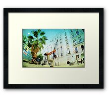 Partner Yoga Framed Print