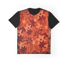 Orange Vintage Trendy Floral Pattern Graphic T-Shirt