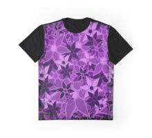 Purple Vintage Trendy Floral Pattern Graphic T-Shirt