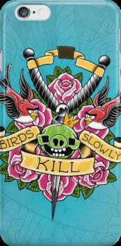 Birds kill slowly by Vitaliy Klimenko