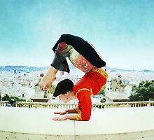 Scorpion with Barcelona views by Wari Om  Yoga Photography