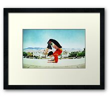 Scorpion with Barcelona views Framed Print